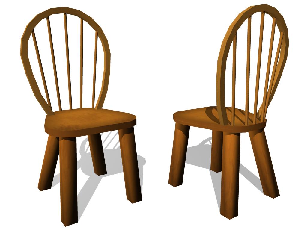 Cartoon Wooden Chair ~ Kyle audick model cartoon chair